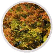Twin Maples Round Beach Towel