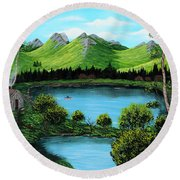Twin Ponds Round Beach Towel