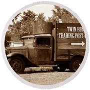 Twin Rocks Trading Post Round Beach Towel