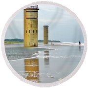 Twin Towers At Whiskey Beach Round Beach Towel