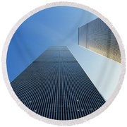 Twin Towers Round Beach Towel by Jon Neidert