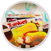 Twinkies Cupcakes Ding Dongs Gone Forever Round Beach Towel