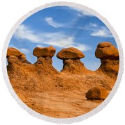 Twins And Sibblings Round Beach Towel