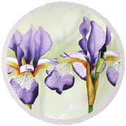 Twins Round Beach Towel