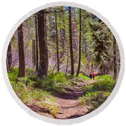 Twisp River Trail Round Beach Towel