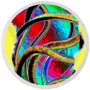 Twist And Shout 3 Round Beach Towel
