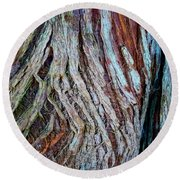 Twisted Colourful Wood Round Beach Towel
