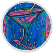 Twisted Martini Round Beach Towel