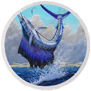 Twisted Off0013 Round Beach Towel