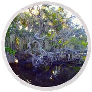 Twisted Tree Round Beach Towel by Carey Chen