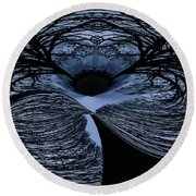 Twisted Tree Round Beach Towel by Jean Noren