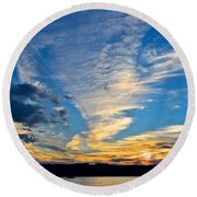 Twister Cloud Round Beach Towel
