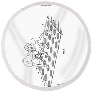 Twister Patent Drawing Round Beach Towel