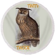 Twit Twoo Round Beach Towel