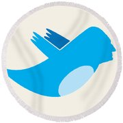 Twitter George Washington Round Beach Towel