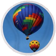 Two Colorful Balloons Round Beach Towel