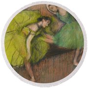 Two Dancers In The Foyer Round Beach Towel