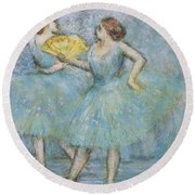 Two Dancers Round Beach Towel