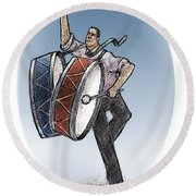 Two Drums Round Beach Towel