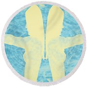 Two Guns Round Beach Towel