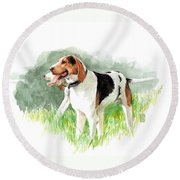 Two Hounds Round Beach Towel