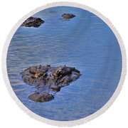 Two Hunting Round Beach Towel
