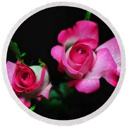 Two In Pink Round Beach Towel
