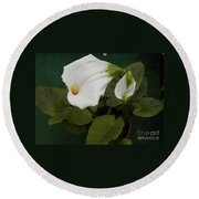 Two Lilies Round Beach Towel