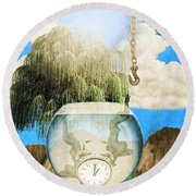 Two Lost Souls Round Beach Towel