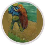Two Lovers Round Beach Towel