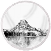 Two Medicine Mountain Round Beach Towel