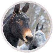 Two Mules For Sister Sara Round Beach Towel
