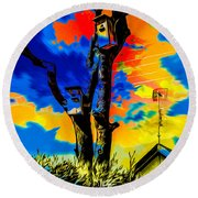 Two Nesting Boxes Round Beach Towel