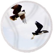 Two Of A Different Kind V2 Round Beach Towel
