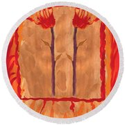Two Of Wands Round Beach Towel