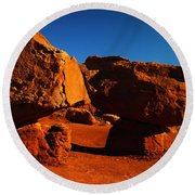Two Rocks At Cliff Dwellers Round Beach Towel