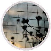 Two Sides Of The Fence Round Beach Towel