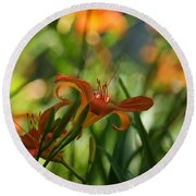Two Tiger Lillies...   # Round Beach Towel