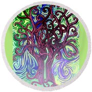 Two Trees Twining Round Beach Towel