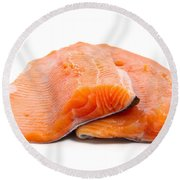 Two Trout Fillets Round Beach Towel