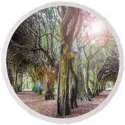 Two Tunnels Taxus Round Beach Towel