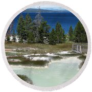 Two Waters Round Beach Towel