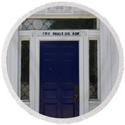 Two Whale Oil Row - Blue Door - New London Round Beach Towel