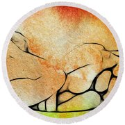 Two Women 2 Round Beach Towel