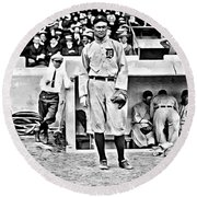 Ty Cobb Round Beach Towel