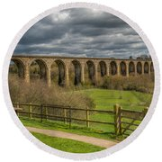 Ty Mawr Country Park Round Beach Towel by Adrian Evans