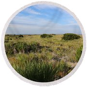Tybee Island Dunes And Path Round Beach Towel