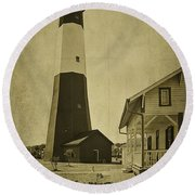 Tybee Island Light Station Round Beach Towel