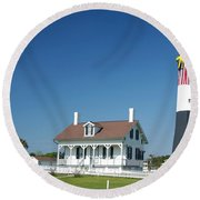 Tybee Island Lighthouse Georgia Round Beach Towel