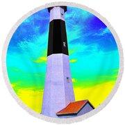 Tybee Island Lighthouse - Photopower Round Beach Towel